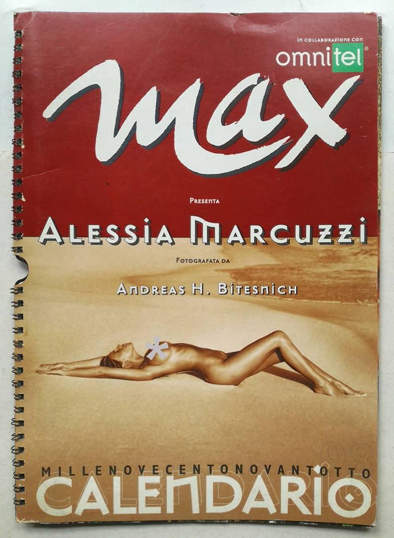 Alessia Marcuzzi Calendario.Calendario Max 1998 Alessia Marcuzzi Foto Di Andreas H Bitesnich