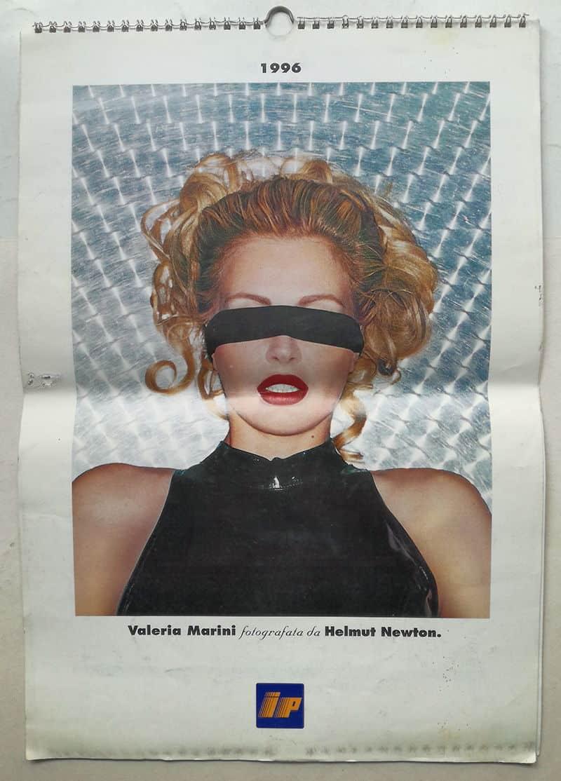 Primo Calendario Valeria Marini.Calendario Ip 1996 Valeria Marini Fotografata Da Helmut Newton