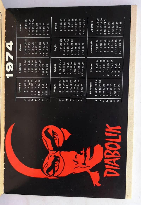 Calendario Anno 1974.Diabolik Anno Xiii 1 26 Completo Con Calendario Astorina 1974