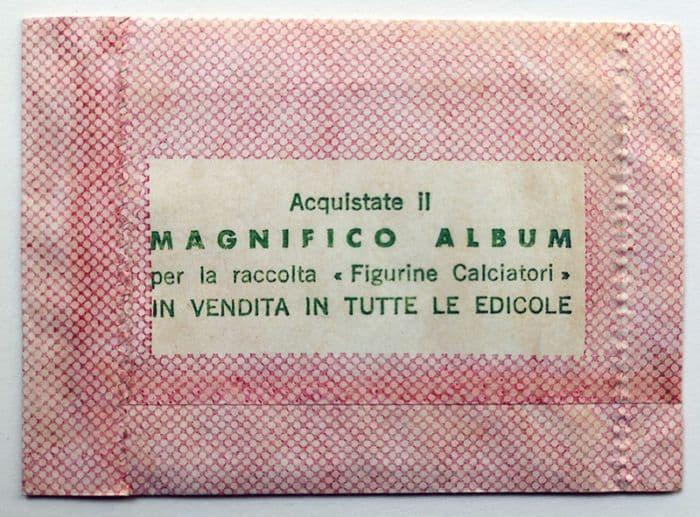 BUSTINA SIGILLATA CALCIATORI PANINI 1961
