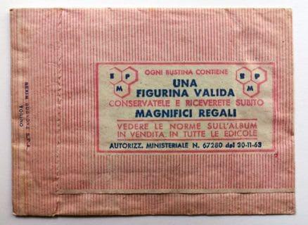BUSTINA SIGILLATA CALCIATORI PANINI 1963