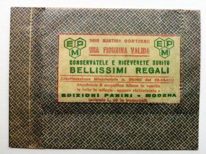 BUSTINA SIGILLATA CALCIATORI PANINI 1964