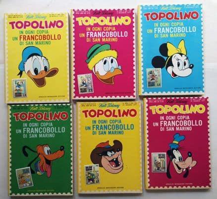 Topolino francobolli San Marino