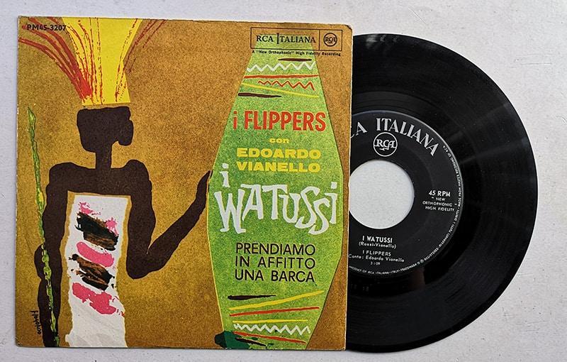 I flippers edoardo vianello i watussi rca pm 3207 vinile 45 giri 7