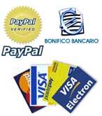 Pagamenti accettati: Bonifico, Vaglia, Paypal, altro